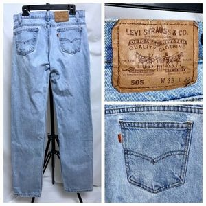 Vintage 80's Levis Orange Tab Straight Jeans 32x32